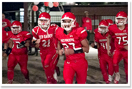 Football team running together