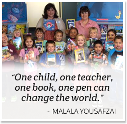 One child, one teacher, one pen, one book can change the world. - Malala Yousafzai