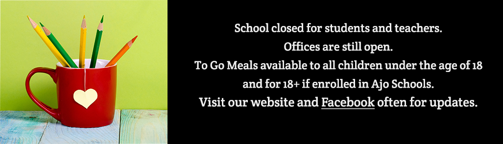 School closed for students and teachers. 