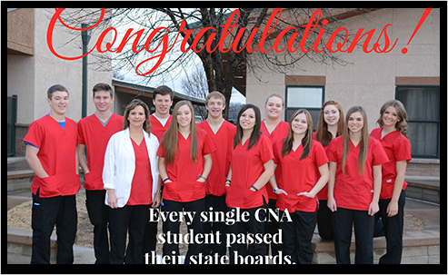 Congratulations!  Every Single CNA Student Passed Their State Boards.