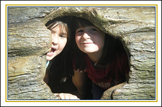 Two students in a log