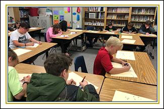 kids working at their desks