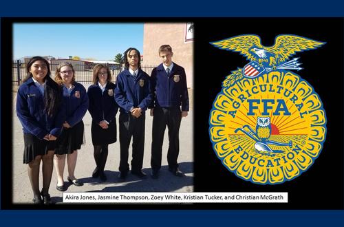 Five FFA students