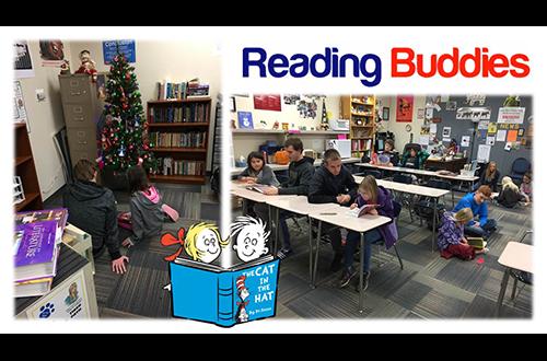 Reading buddies.