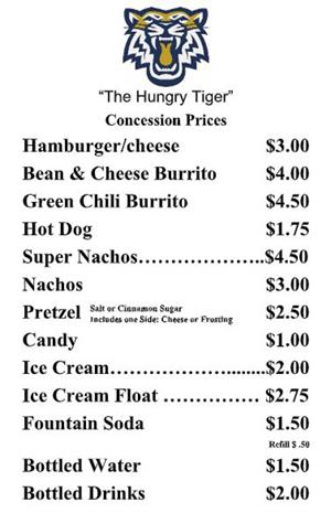 Concession prices