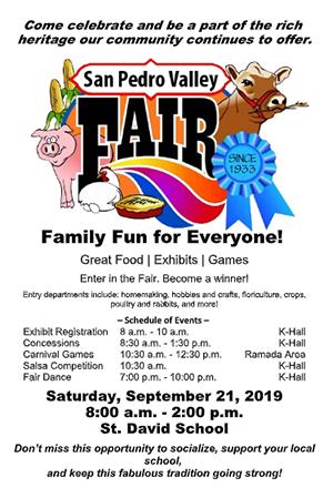 San Pedro Valley Fair flyer