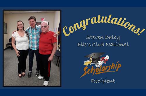 Congratulations Steven Daley, Elk's Club National Scholarship Recipient