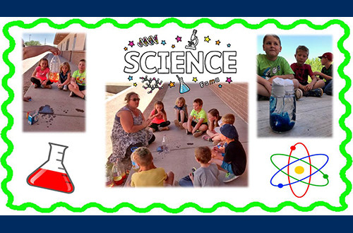 Elementary students conducting science experiments