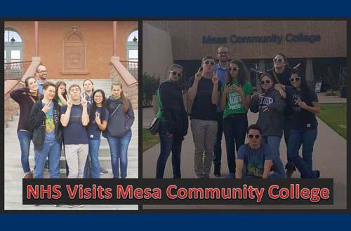 NHS visits Mesa Community College