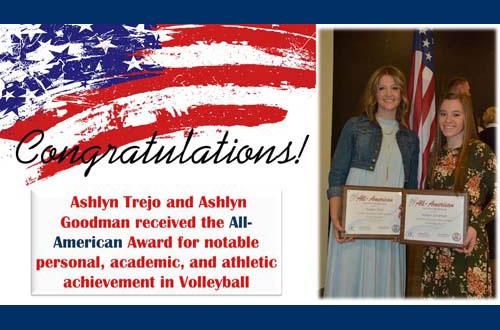 Congratulations All-American Award Winners