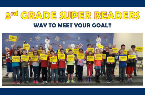 3rd Grade Super Readers - Way to meet your goal!