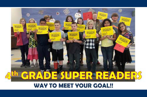 4th Grade Super Readers - Way to meet your goal!