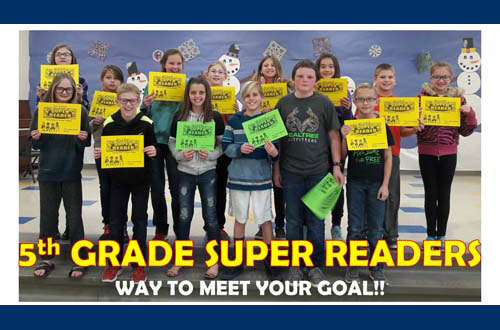 5th Grade Super Readers - Way to meet your goal!