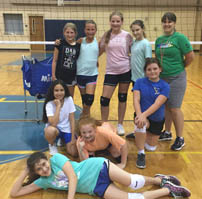 Volleyball team in the gym