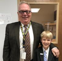 Student and teacher dressed alike