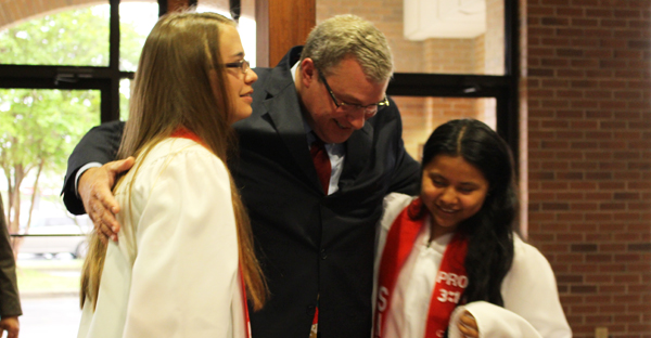 Pastor connects with youth