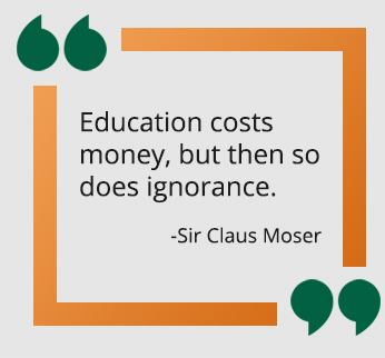 Sir Claus Moser quote