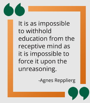 Agnes Repplierg quote