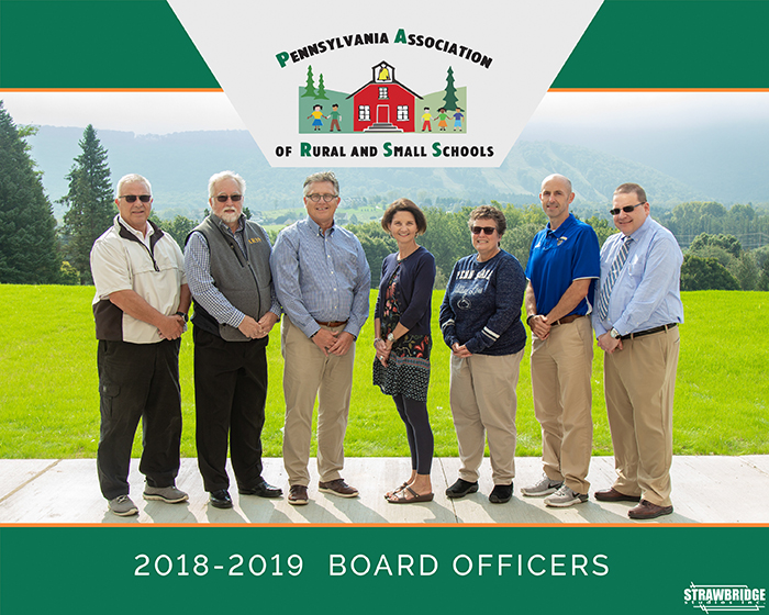 Pennsylvania Association of Rural and Small Schools - 2018-2019 Board Officers photo by STRAWBRIDGE