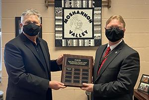 Dr John Zesiger receives the Rural Education Advocacy Award