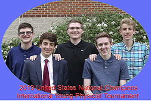 2019 United States National Champions International Young Physicist Tournament