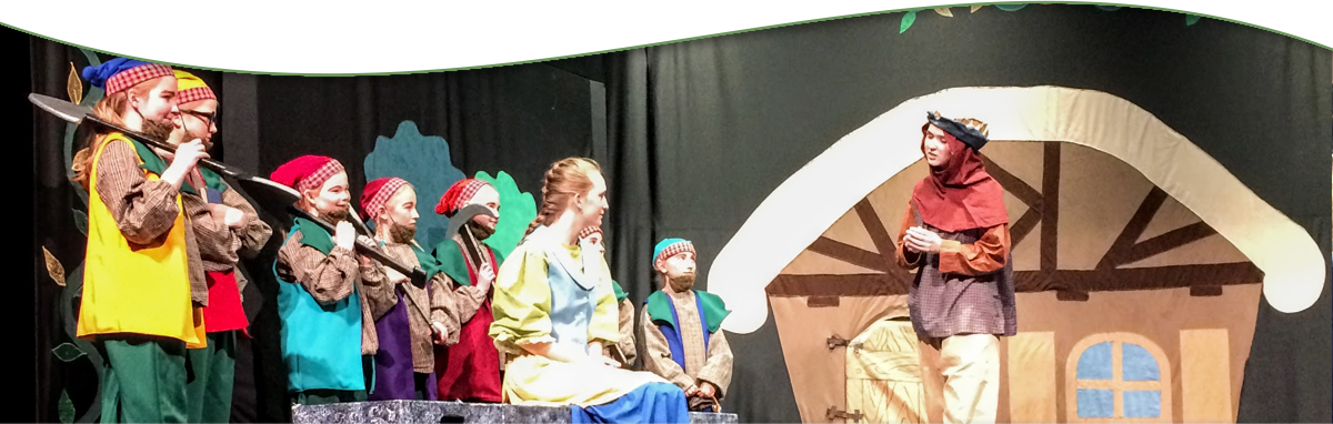 Students in a Snow White play
