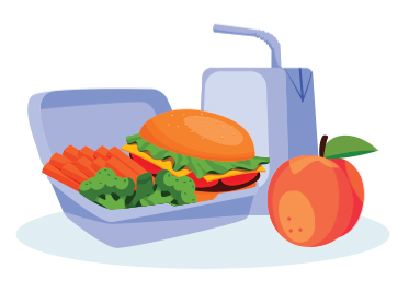 hamburger lunch illustration