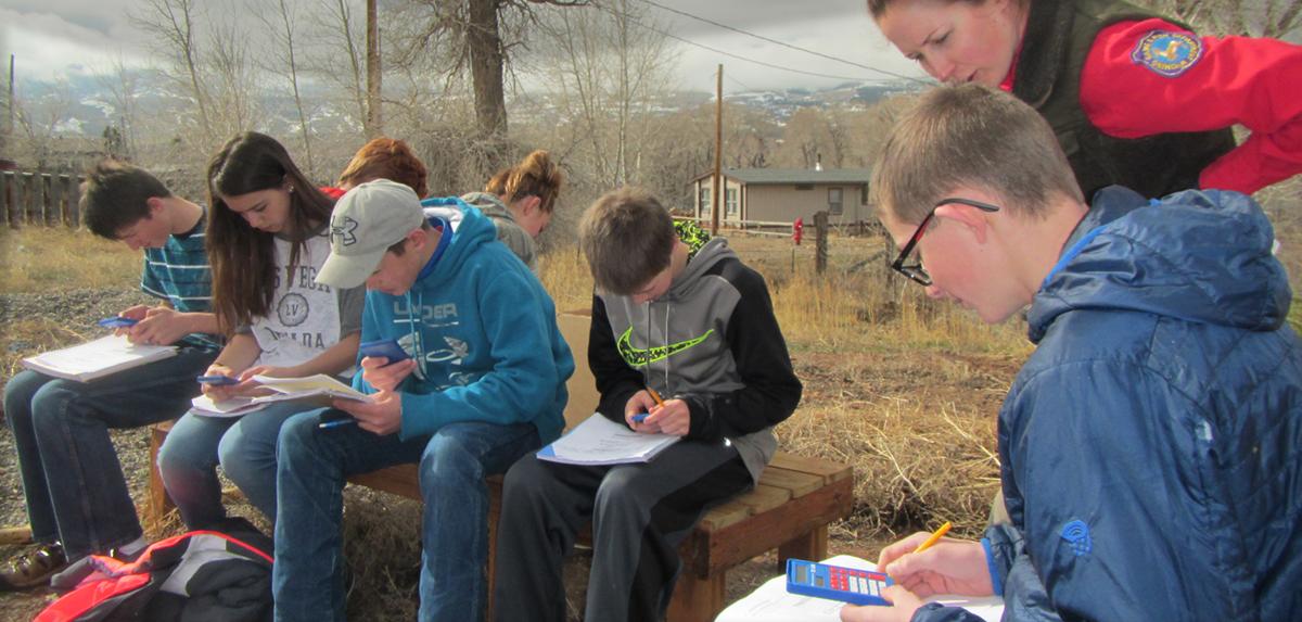 Fremont Students at river