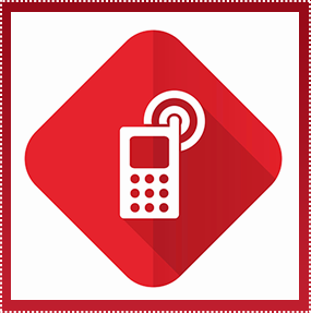 Telephone cartoon icon