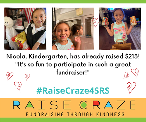 Nicola, Kindergarten, has already raised $215! It's so fun to participate in such a great fundraiser!