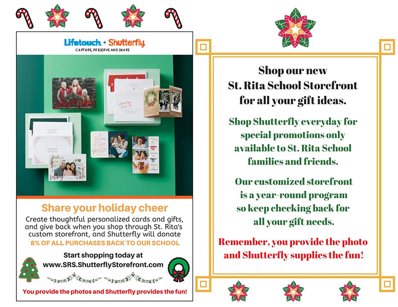 St. Rita School is thrilled to announce a new fundraising opportunity with Lifetouch and Shutterfly