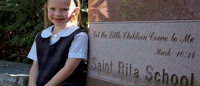 3-Little Girl Next to Statue