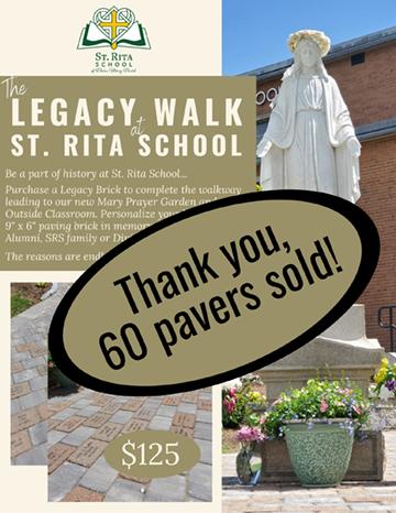 Legacy Walk at St Rita School flyer