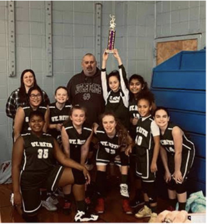 Girls JV Basketball Team at the All Saints Basketball Jamboree
