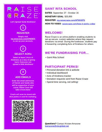 Click for Raise Craze instruction flyer