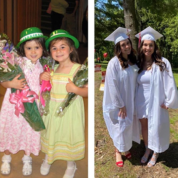 Happy SHA graduates and SRS alumnae, Morgan and Ally