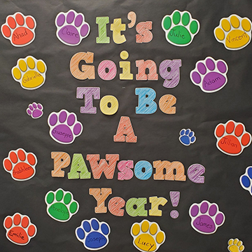 Bulletin board - It's going to be a Pawsome Year!