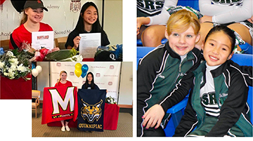 St. Rita Alumnae sign National Letters of Intent to attend and play sports at the collegiate level.