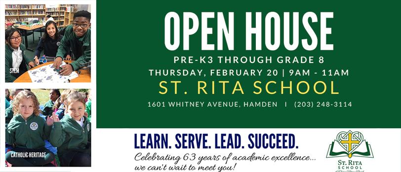 St. Rita Open House - Thursday, February 20 9 AM to 11 AM
