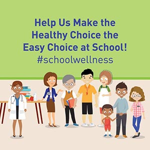 Help us make the healthy choice the easy choice at school! #schoolwellness