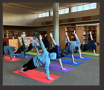 Students yoga activity
