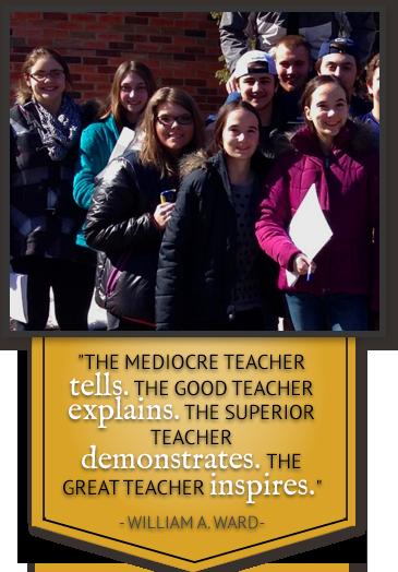 The mediocre teacher tells. The good teacher explains. The superior teacher demonstrates. The great teacher inspires. - William A. Ward