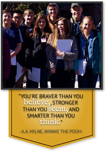 You're braver than you believe, stronger than you seem, and smarter than you think. - A. A. Milne Winnie the Pooh