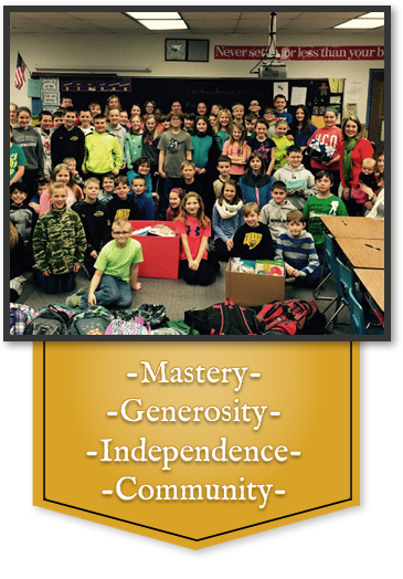 Mastery, Generosity, Independence, Community
