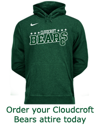 Order your Cloudcroft Bears attire today