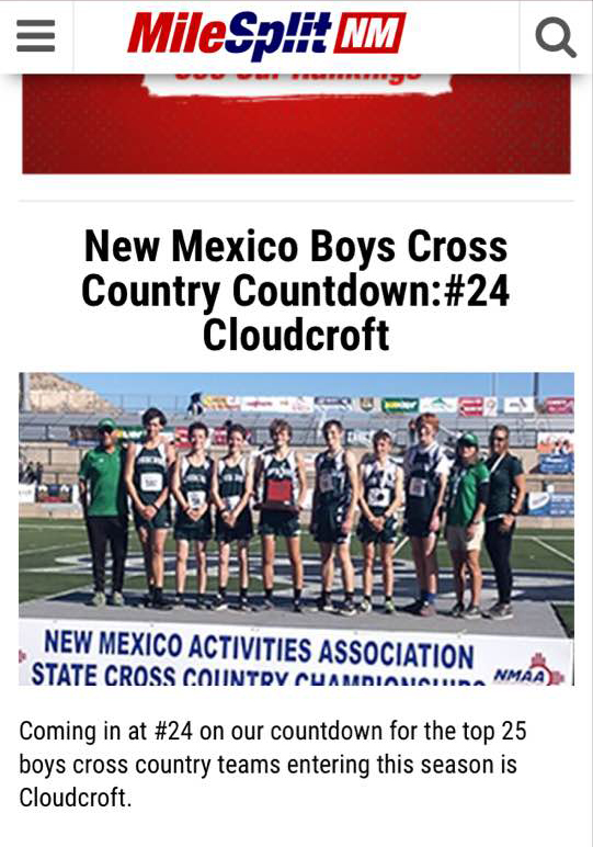 MileSplit New Mexico Boys Cross County Countdown #24 Cloudcroft