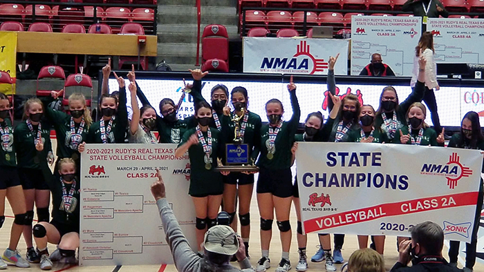 Cloudcroft Municipal Schools Volleyball State Champions