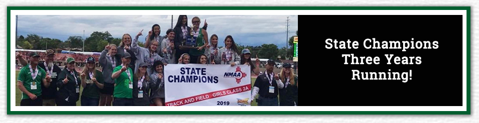 Photo of 2019 Track and Field team - State Champions Three Years Running!