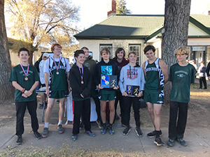 Boys cross country team - district champions!