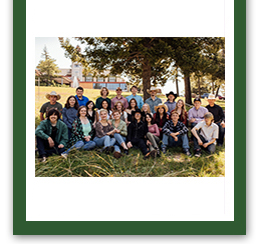 Seniors in the hallway wearing face masks